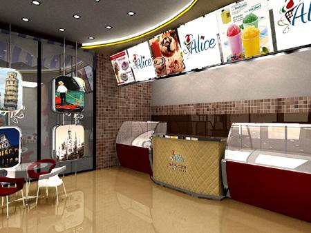 冰淇淋 专店设计|形象设计